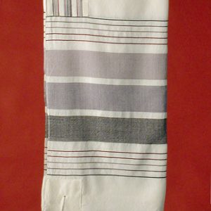 Wide Gray Graded Tallit