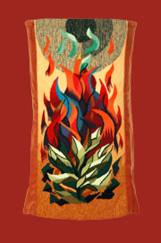 Burning Bush Torah Mantle
